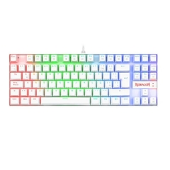 Teclado Gamer Redragon Kumara K552 Qwerty Cherry Mx Blue Español Latinoamérica De Color Blanco Con Luz Rgb
