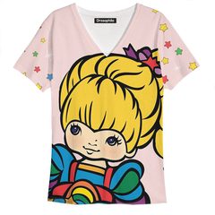 Remera Rainbow Face pink