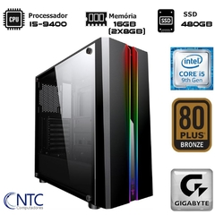 Microcomputador NTC PC GAMER VULCANO II 7153 DUAL CHANNEL (I5-9400/16GB(2x8)/SSD480GB/H310/500W/Odyssey)
