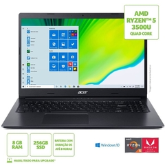 NOTEBOOK ACER 15,6 HD A315-23-R0LD/ NX.A39AL.002 / R5-3500U/ 12GB/ 1TB/ W10 HOME na internet