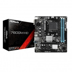 Placa Mãe AsRock 760GM-HD (AM3+ / AM3, 8-Core CPU/DDR3/PCI/USB 2.0/HDMI/D-Sub)