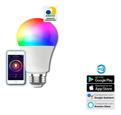 Lampada Led Inteligente Rgb Android Smart Wifi Bivolt