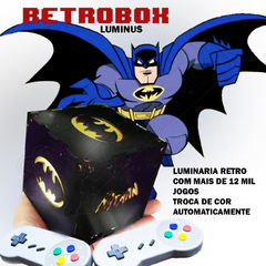 RETROBOX LUMINUS BATMAN, 12 MIL JOGOS NA MEMORIA