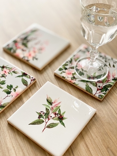Set with 4 tile coasters