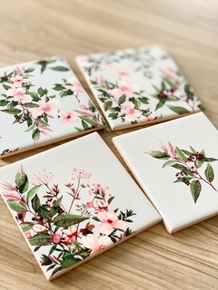 Set with 4 tile coasters - online store