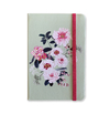 Notebook Medium - Floral with Light Green Background - measure 12x18cm
