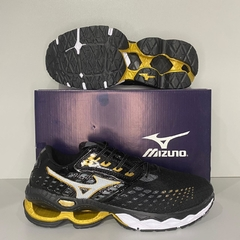 MIZUNO WAVE CRATION 21 Preto/Dourado