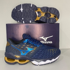 MIZUNO WAVE CREATION 21 AZUL/DOURADO