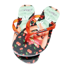 Chinelo Pin Up Jane Chicca Morena - comprar online