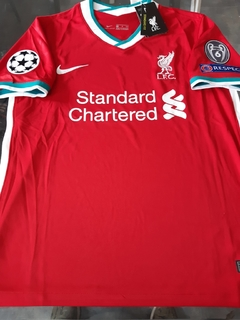Camiseta Nike Liverpool Titular Virgil #4 2020 2021 Parches Champions UCL - comprar online