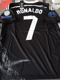 Camiseta adidas Real Madrid Retro Tercera Negra (Dragon) Ronaldo #7 2014 2015