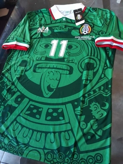 Camiseta Mexico Retro Titular Blanco #11 1998 en internet