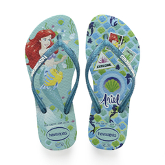 Ojotas Havaianas Kids Slim Princess Originales Ice blue
