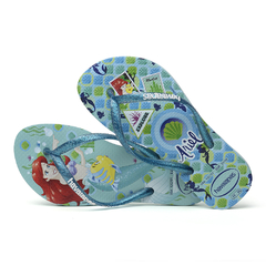 Ojotas Havaianas Kids Slim Princess Originales Ice blue - SOLO NATACIÓN
