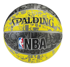 Pelota De Basquet Spalding Nba Nº 7 Graffiti Black yellow
