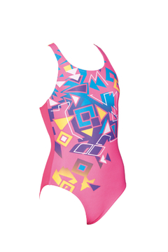 ARENA ENTERIZA JUNIOR BRICKS JR SWIM PRO BACK ONE PIECE L AMARILLO (949) MAXLIFE