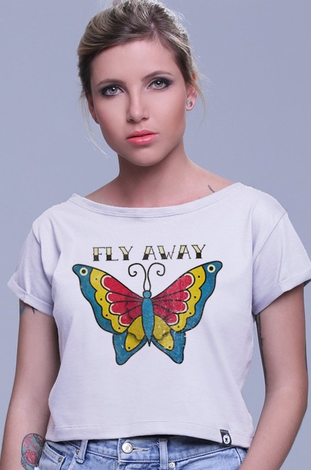 BLUSA CROPPED FLY AWAY atacado