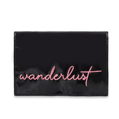 Travel Kit Wanderlust - Charol Negro & Fucsia en internet