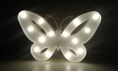 Cartel Luminoso Led Mariposa Deco
