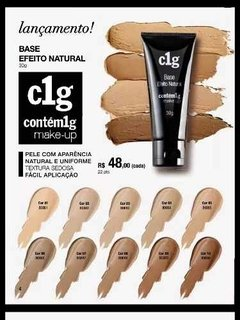 Kit Com 3  Base Efeito Natural C1g R$144