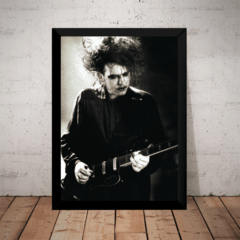 Quadro Foto Post Punk Goth Rock Robert Smith Cure 42x29cm