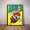 Quadro decorativo retro nerd geek Super mario bros 3 42x29cm