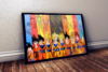Lindo quadro decorativo Dragon ball fases de goku 42x29cm