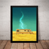 Quadro Decorativo Breaking Bad sem texto arte nerd Geek grande 42x29cm