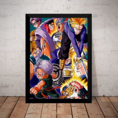 Quadro Arte Dragon Ball Z As Fases De Trunks