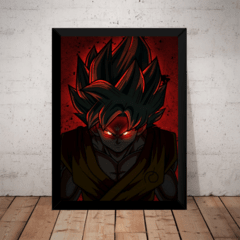 Quadro Arte Dragon Ball Z Super Black Goku Ssj Rosa