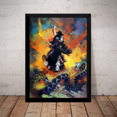 Quadro Arte De Frank Frazetta Death Dealer Hq