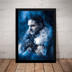 Quadro Game Of Thrones Jon Snow Stark Targaryen Arte