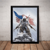 Quadro Game Assassin's Creed Arte Poster Moldurado