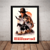 Quadro Arte Red Dead Redemption 2 Game Poster Com Moldura