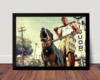 Quadro Game Gta V Franklin Arte Poster Moldurado