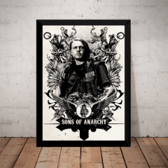 Quadro Arte Sons Of Anarchy Jax Teller Poster Com Moldura