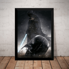 Quadro Decorativo Stars Wars Arte Darth Vader Ep 7