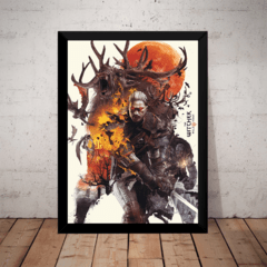 Quadro Decorativo The Witcher 3 Wild Hunt Poster Moldura