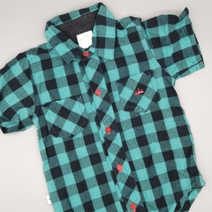 Camisa body RM Talle 6 meses verde negro - comprar online