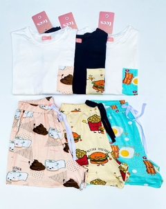 Short Unissex Bacon e Ovos - Better together - Tees Online