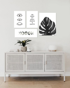 Set White Monstera