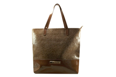 Shopping Bag Croco Charol Marron