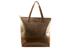 Shopping Bag Croco Charol Marron - comprar online