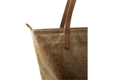 Shopping Bag Croco Charol Marron - Carla Danelli