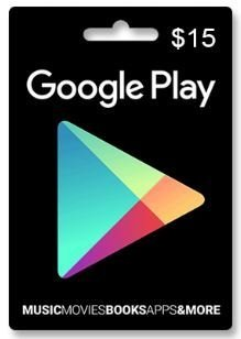 GIFT CARD GOOGLE PLAY US$ 15 USA