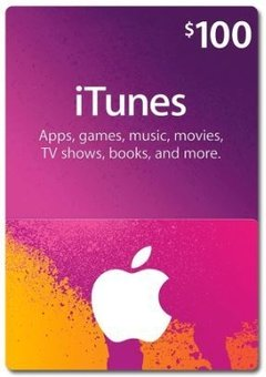GIFT CARD ITUNES STORE CARD US$ 100 USA
