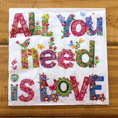 Servilleta - All You Need is Love - comprar online