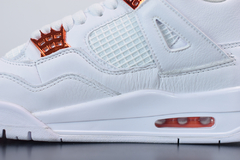 Tênis Air Jordan 4 Metallic Orange na internet