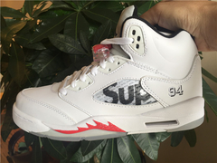 "Tênis Air Jordan 5  ''Supreme White"" - Outh Clothing"