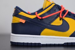 "Nike Dunk Low x Off-White ""University Gold Midnight Navy"" - loja online"